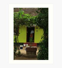 Postcards from Kerala: The happy house Art Print
