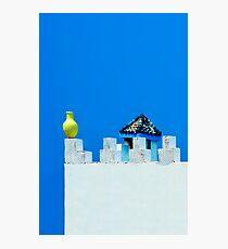 Battlements in Blue II Photographic Print