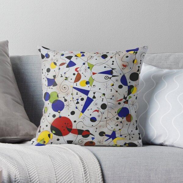 Miro's Cat Encircled by the Flight of a Bird #29 Throw Pillow