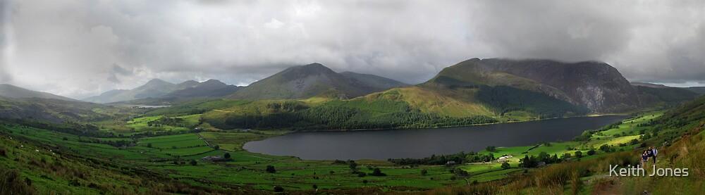 Panorama; Snowdon Ranger Path by Keith Jones
