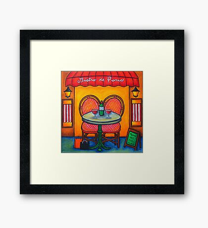 Table for Two in Paris Framed Print