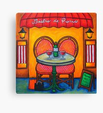 Table for Two in Paris Canvas Print