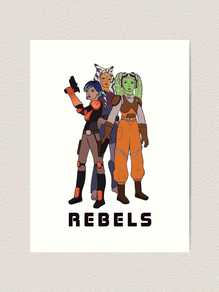 Star Wars Rebels Sabine poster print
