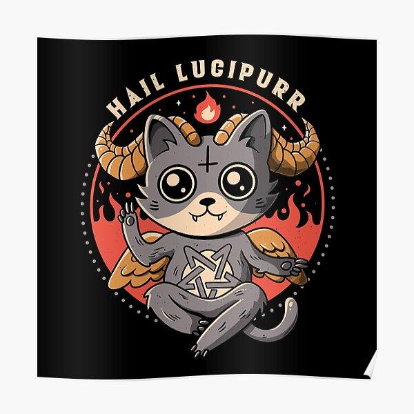 Hail Lucipurr - Cute Baphomet Cat Gift  Poster