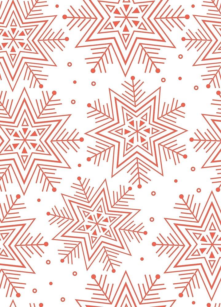 Festive Snowflake by PinkPrintDesign