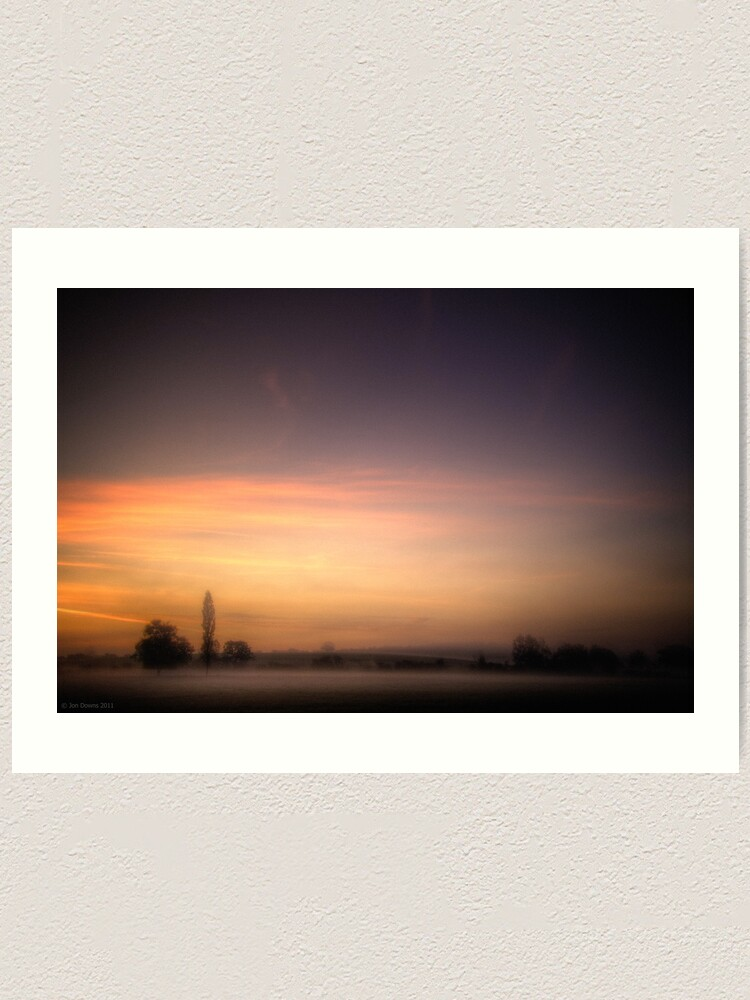 Alternate view of mist near Roade Art Print