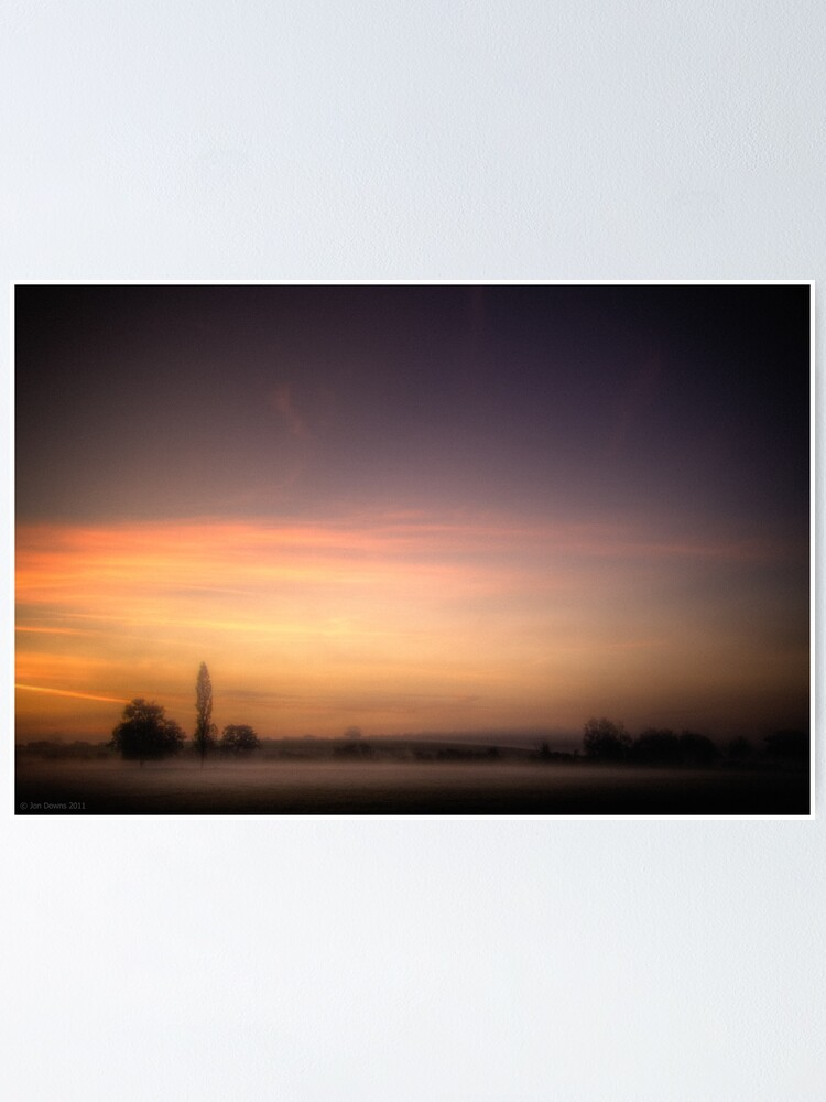 Alternate view of mist near Roade Poster