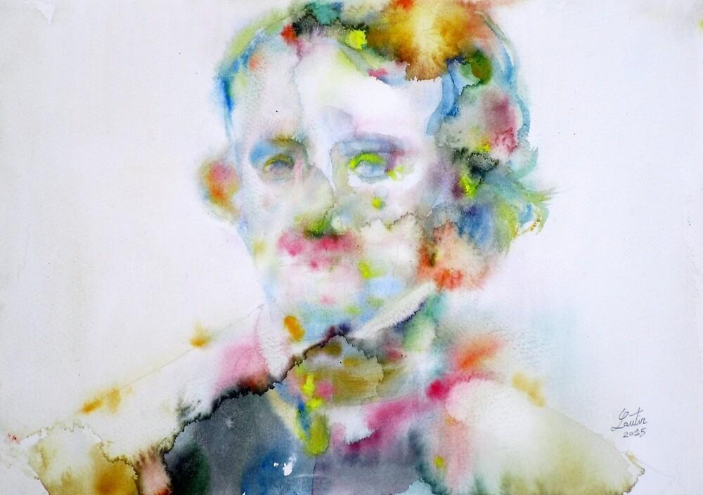 EDGAR ALLAN POE - watercolor portrait.4 by lautir