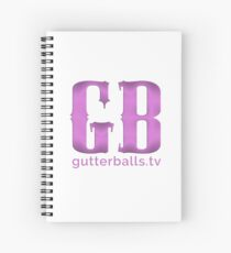 Gutterballs Monogram - Purple with URL Spiral Notebook
