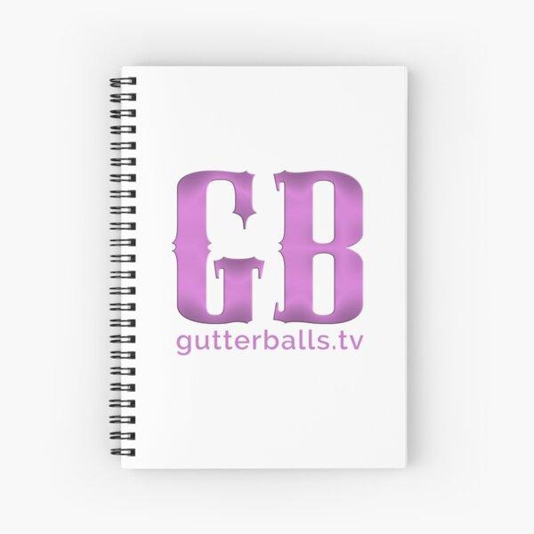 Gutterballs Monogram - Purple with URL Spiral Notebook