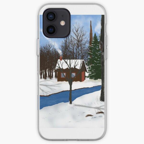 Winter Cabin iPhone Soft Case