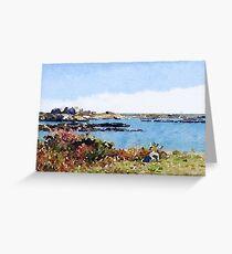 Seascape, Ocean Drive, Newport, RI Greeting Card