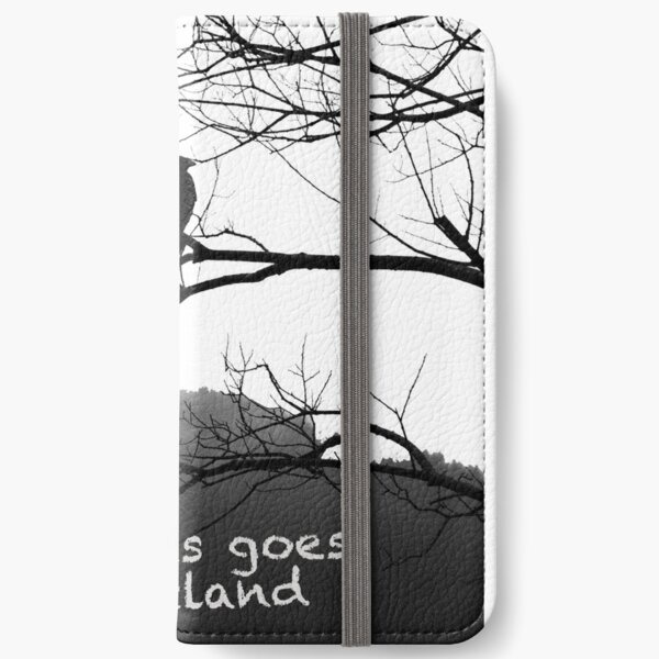 Mr. Raven at trees iPhone Wallet
