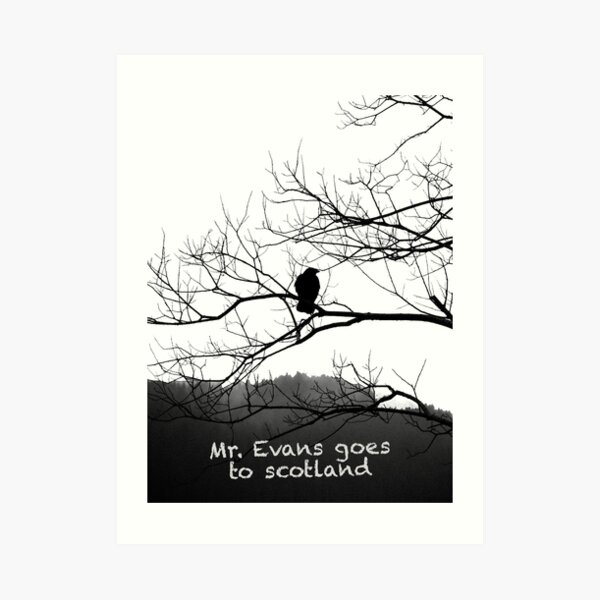Mr. Raven at trees Art Print