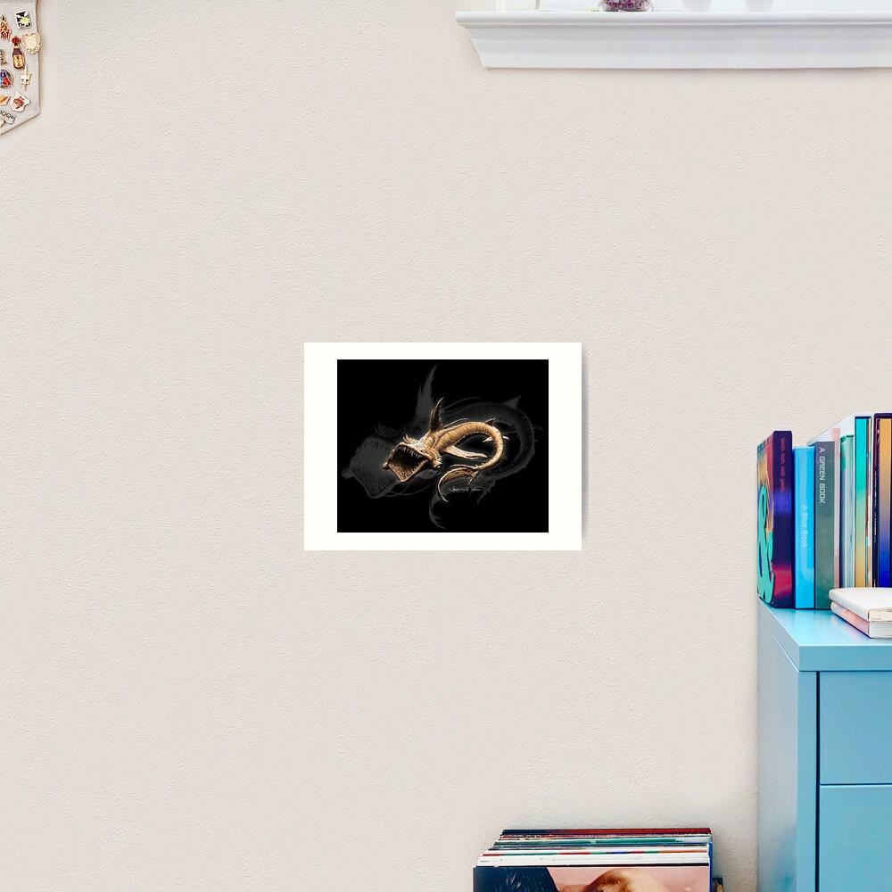 Impression artistique «Dragon des abysses»