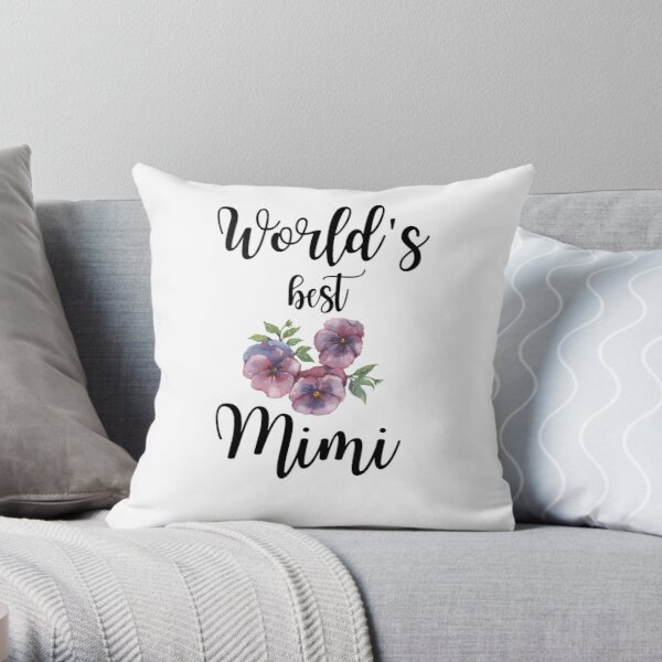 world Best Mimi  Throw Pillow