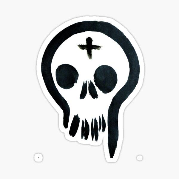Ash Skull Sticker