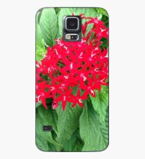Red Flowers Case/Skin for Samsung Galaxy