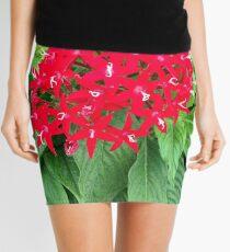 Red Flowers Mini Skirt