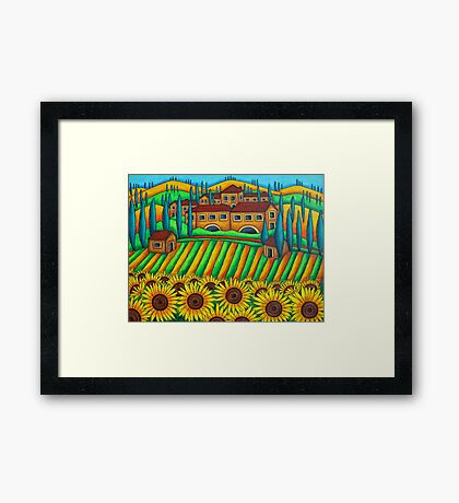 Colours of Tuscany Framed Print