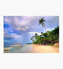 Panglao Island Double Rainbow Photographic Print
