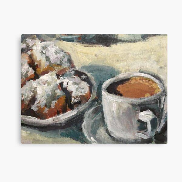 Beignets and Cafe au Lait at the Cafe du Monde Canvas Print