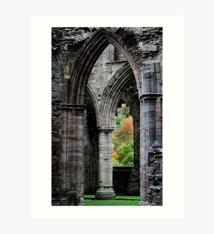 Autumn View - Tintern Abbey Art Print