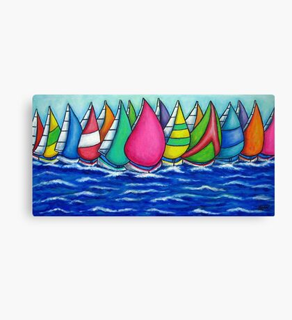 Rainbow Regatta Canvas Print