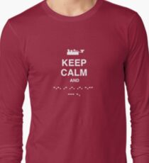 Keep Calm and Carry On - Morse Code T Shirt Long Sleeve T-Shirt