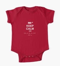 Keep Calm and Carry On - Morse Code T Shirt One Piece - Short Sleeve