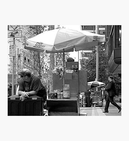 The Hot Dog Vendor Photographic Print