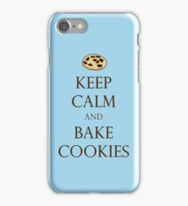 Keep Calm and Bake Cookies - Light Blue iPhone Case/Skin