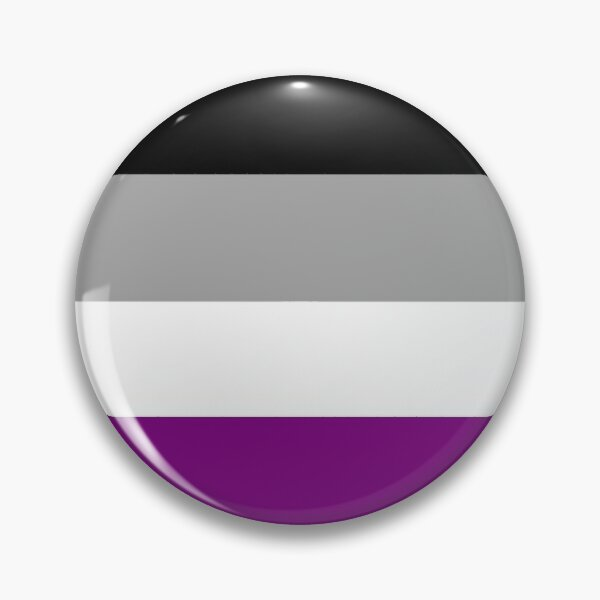 Asexual Rainbow Pride Pin