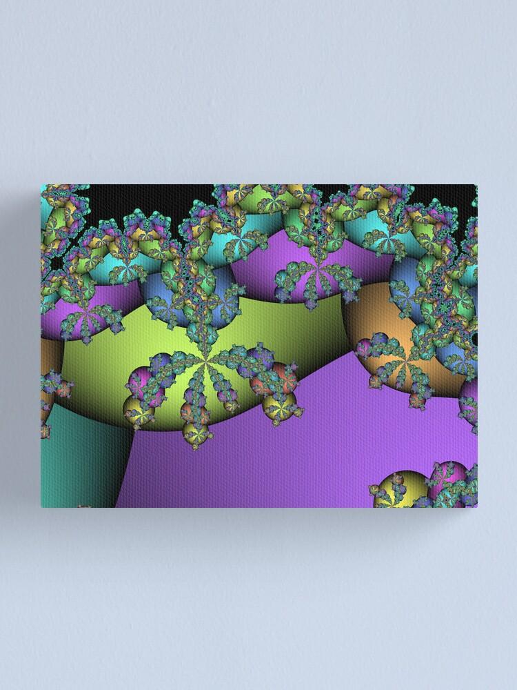 Alternate view of Fractal Egg Tree Canvas Print