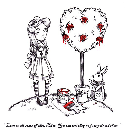 Alice & The White Rabbit Are Not Impressed by MissCake