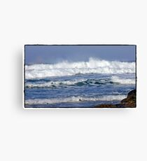 """ Storms again  batter Cornwall"" Canvas Print"