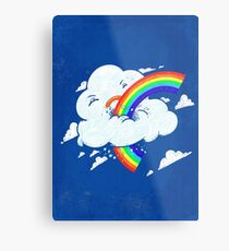 Cloud Hates Rainbow Metal Print
