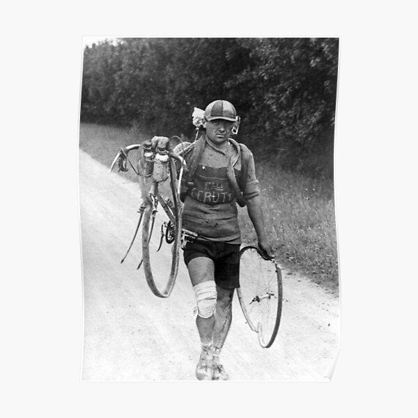 Tour de France Épave du cycle italien Giusto Cerutti 1928 Poster