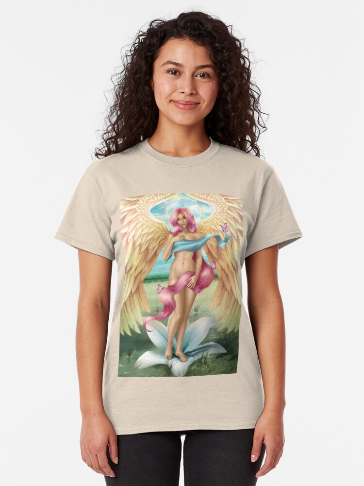Alternate view of Birth of a Shy Angel Classic T-Shirt