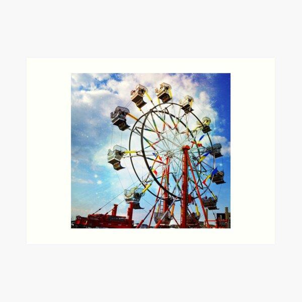 Whimsical Ferris Wheel Art Print