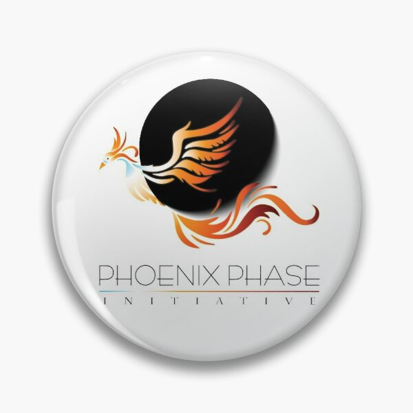 Logo Stickers and Buttons - Phoenix Phase Initiative Pin