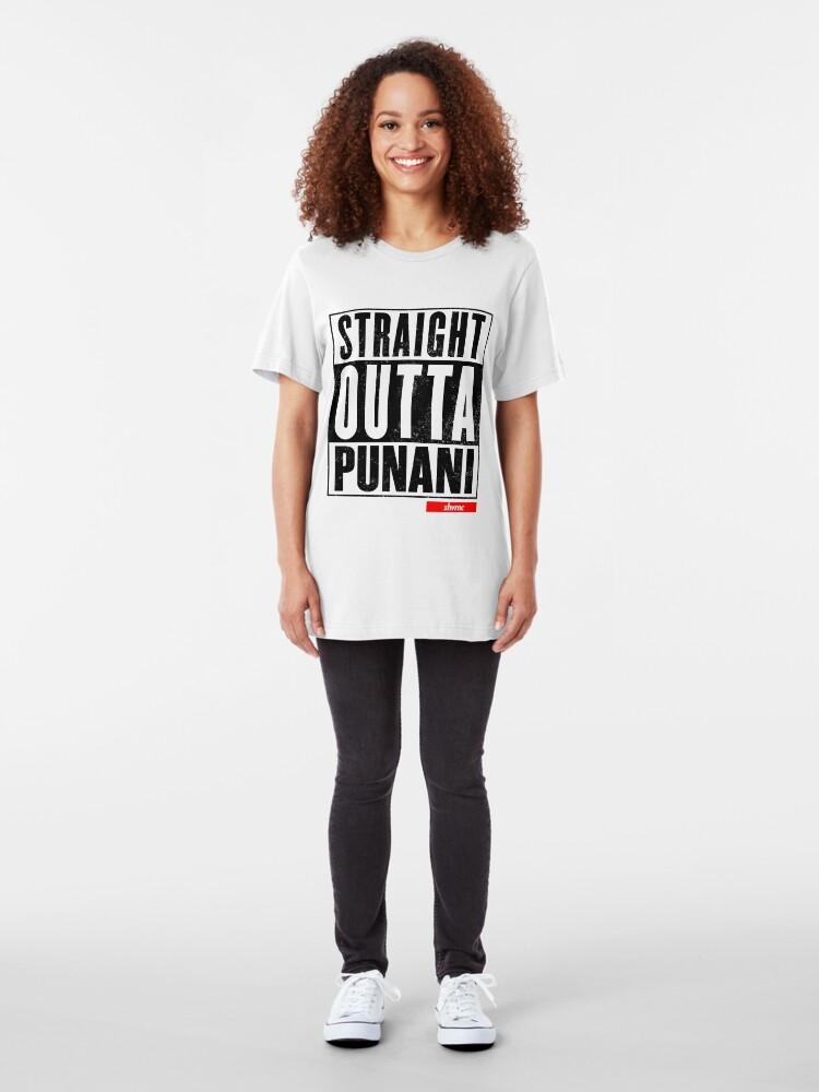 Alternate view of Straight Outta Punani (black) Slim Fit T-Shirt
