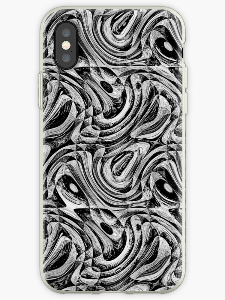 Black  Marbling Abstract Pattern by semas