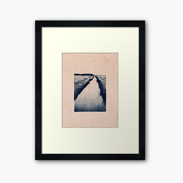 CLASSIC BLUE / At the Creek Framed Art Print
