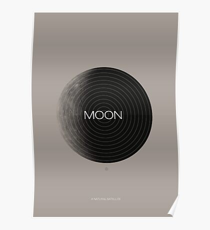 Moon, a Natural Satellite Poster