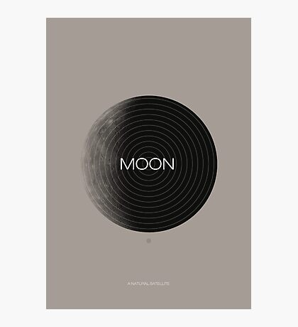 Moon, a Natural Satellite Photographic Print