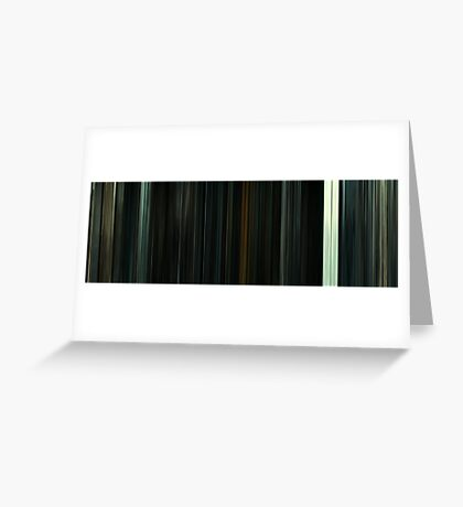 Moviebarcode: Harry Potter and the Deathly Hallows: Part 2 (2011) Greeting Card