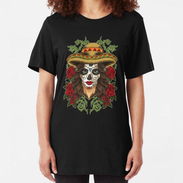 La Calavera Catrina - Lady of the Dead Slim Fit T-Shirt