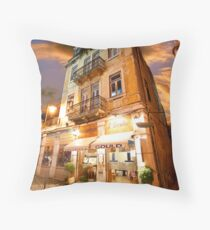 surreal rooftop Throw Pillow