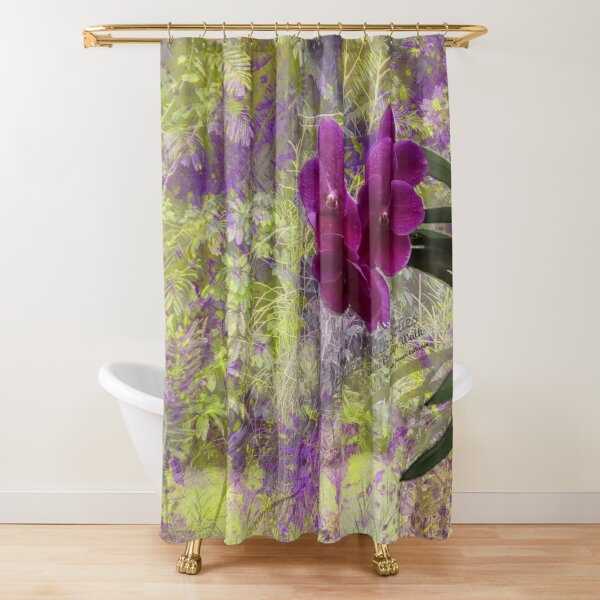 GARDEN WALK SERIES _ Sunni Garden Walk - Shankaran Barron Collection Shower Curtain